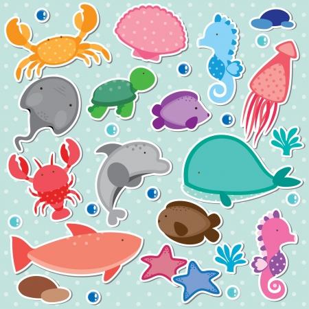 Onder de zee illustraties Vector Illustratie