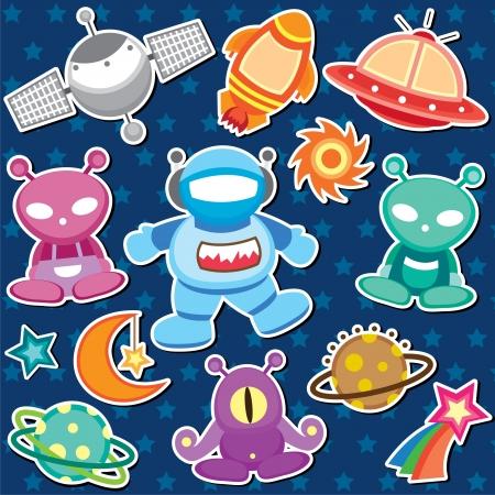 outer space clip art Stock Vector - 18463980