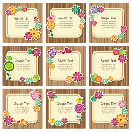 spring message: Forest nature invitation cards
