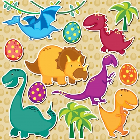 cute dinosaur clip art Vector