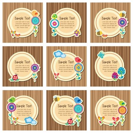 wood floral layout design