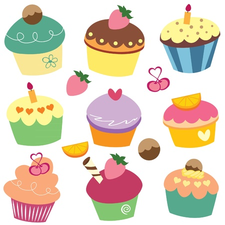 yummy cupcakes clip art Illustration