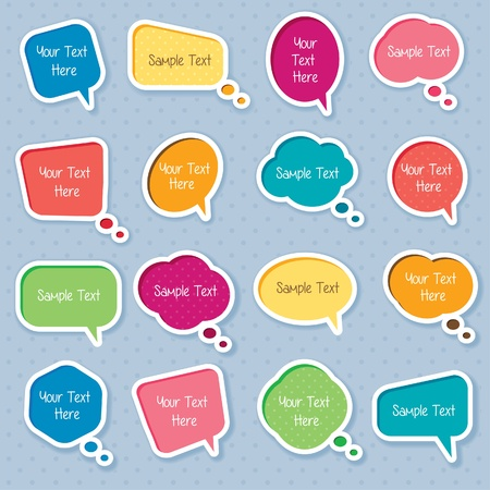 Cute dialog box digital clip art Illustration