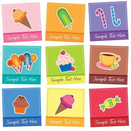 mix desserts digital clip art Vector