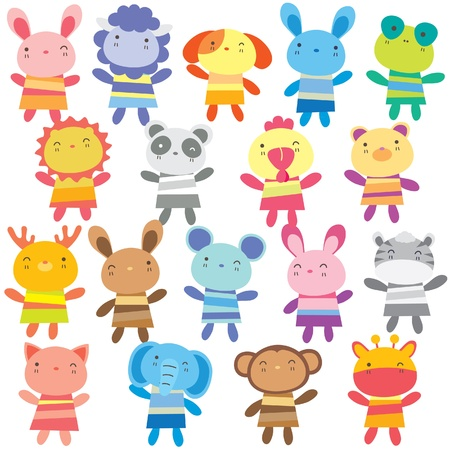 lion and lamb: mix animal dolls clip art