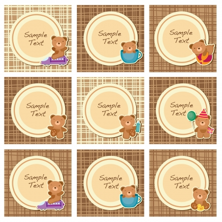 brown teddy layout A Vector