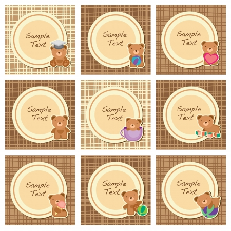 brown teddy layout B Vector