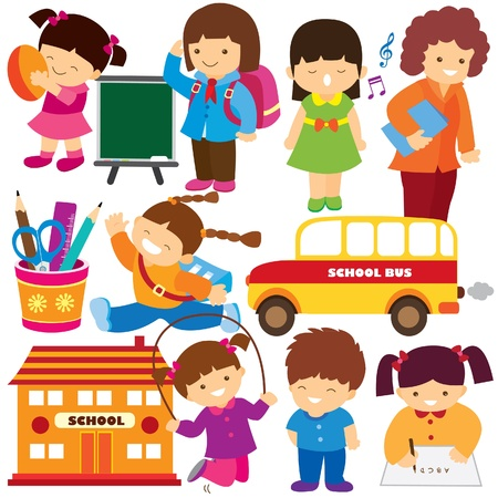 back to school clip art Illustration
