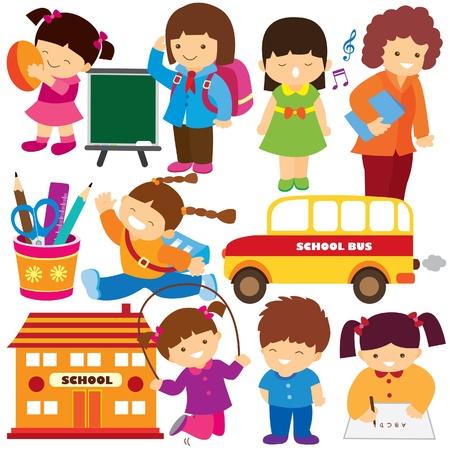 writing activity: back to school clip art Illustration