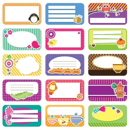 cute memo collection Illustration