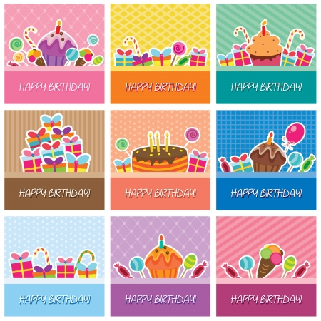 birthday cards big collection Vector