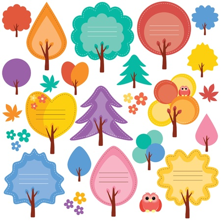 autumn tree notes Vector