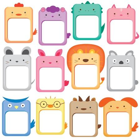 animals note digital set Illustration