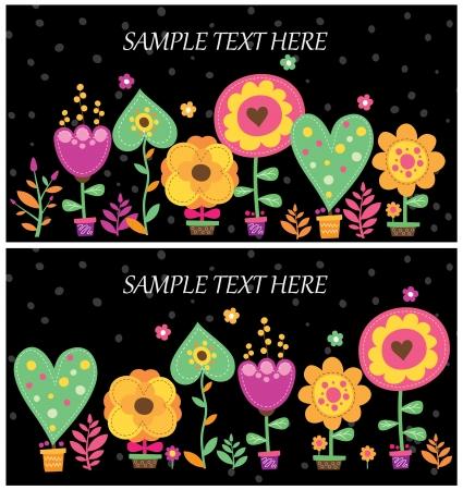 black floral layout design 免版税图像 - 23297987
