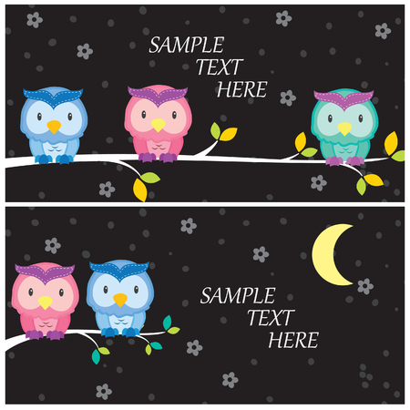 night owl layout design Vector