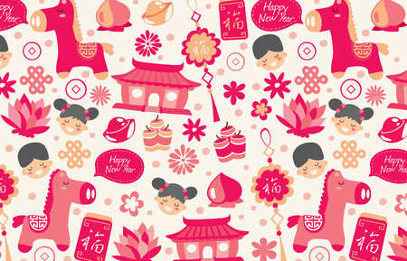 Chinese New Year wallpaper in red