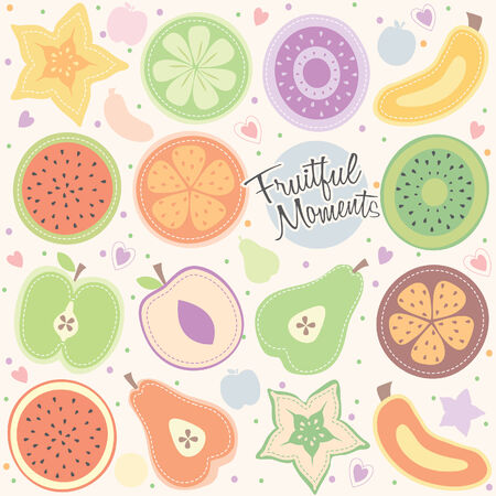 fruity moment illustration Vector