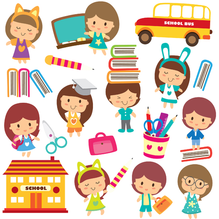 happy students clip art Vector