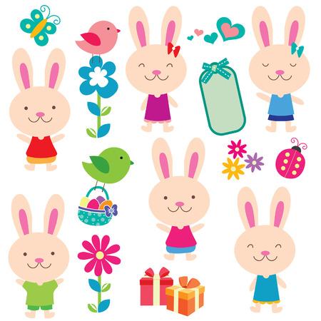 clip art: coniglio e gli amici insieme clip art