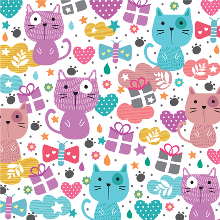 meow cat illustration wallpaper
