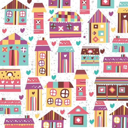 home sweet home illustration wallpaper 矢量图像