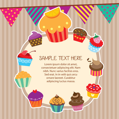 cupcake layout frames design