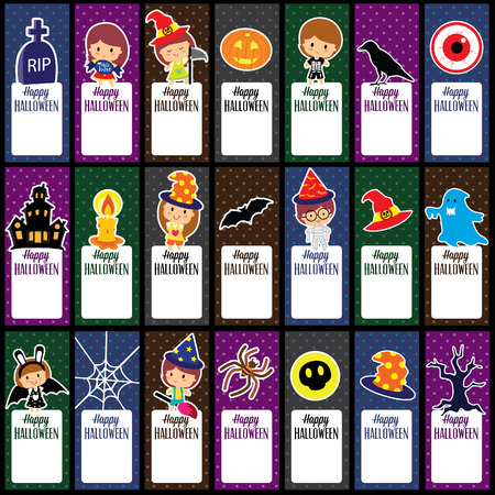 halloween tags layout design Vector