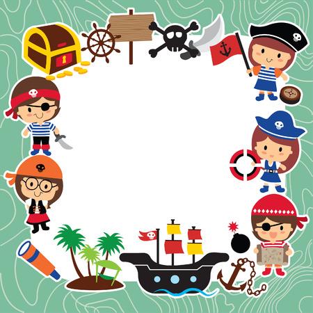 pirates kids layout design