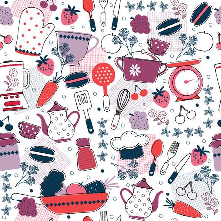 modern kitchen: seamless kitchen wallpaper design