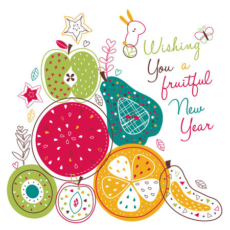 fruitful new year illustration
