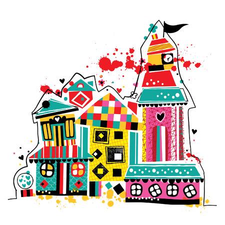 dream house illustration