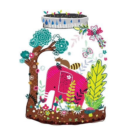 elephant nature illustration