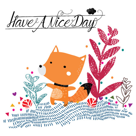 have a nice day fox illustration