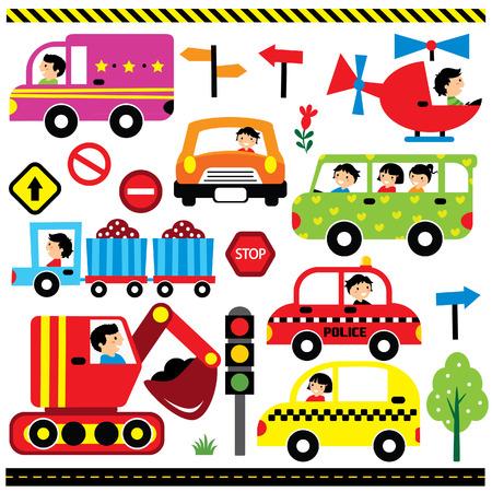 clip art: veicoli con set di clip art autista