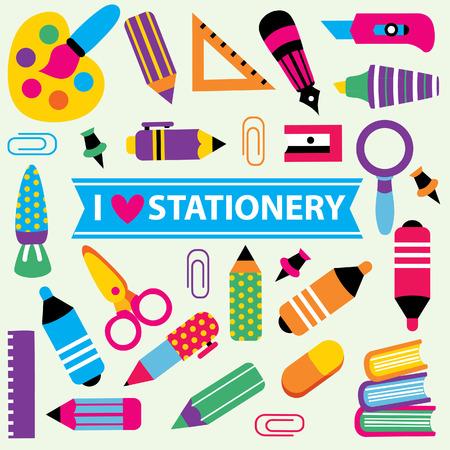 clip art: stationery clip art set Illustration