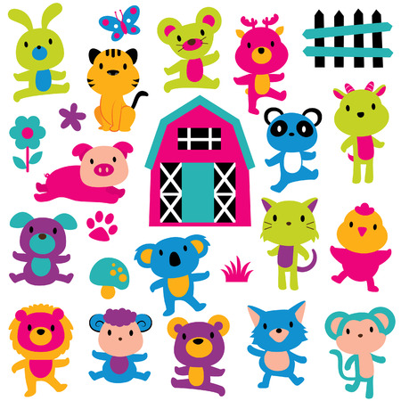 joy animals clip art set