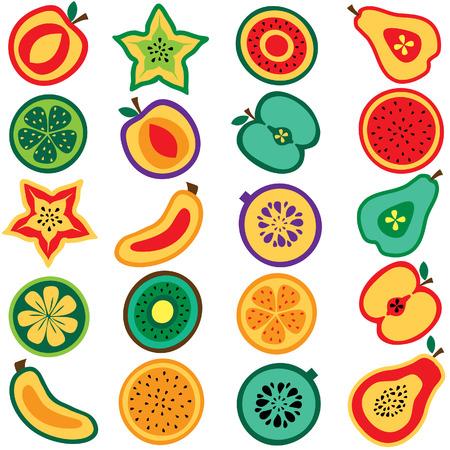 clip art: tagliare la frutta insieme clip art
