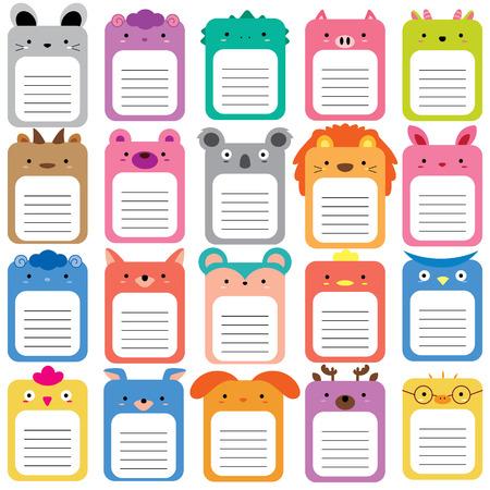 animals text box set