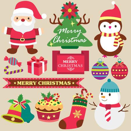 cute clipart: christmas theme clip art set