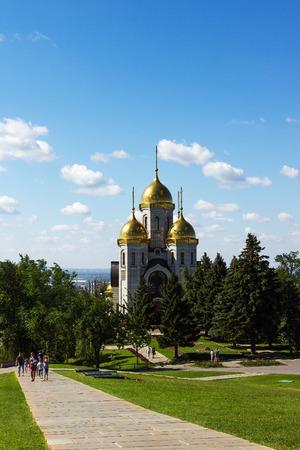 VOLGOGRAD, RUSSIA - July 12, 2015: Church of all saints. Volgograd. Installed Mamaev Kurgan, the Museum-preserve the battle of Stalingrad, Volgograd, Russia