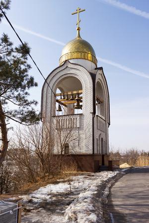 VOLGOGRAD, RUSSIA - April 26: Church of all saints. Volgograd. Installed Mamaev Kurgan, the Museum-preserve the battle of Stalingrad, Volgograd, Russia Editorial