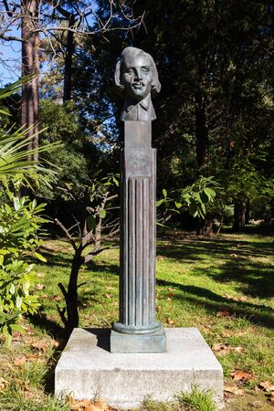 SOCHI, RUSSIA - November 05, 2015: a Bust of Russian writer Gogol N. In. Installed the Park Riviera, Sochi, Sochi