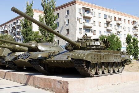 VOLGOGRAD, RUSSIA - August 04, 2015: Exhibit a light Soviet tank is-3. Installed the Museum-panorama the battle of Stalingrad, Volgograd, Russia