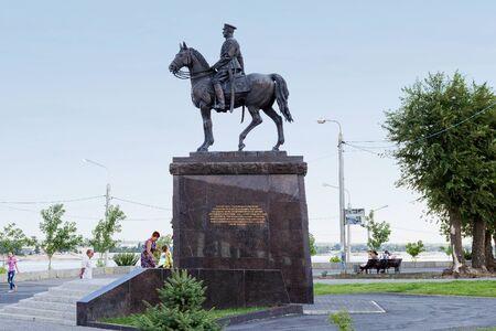 VOLGOGRAD, RUSSIA - August 06, 2015: Hero of the Soviet Union, Marshal ordinances Rokosovsky. Volgograd, Russia