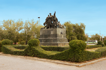 VOLGOGRAD, RUSSIA - October 11, 2015: the Monument dedicated to the defenders of the red Caricina from the White guard troops. Volgograd, Russia
