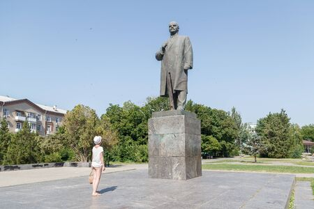 TAGANROG, RUSSIA - June 23, 2016: Monument to the politician person Lenin of V. I. Taganrog, Russia Editorial