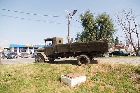 15 inch: TAGANROG, RUSSIA - July 21, 2016: Old military ZIS-5 truck. Taganrog, Russia