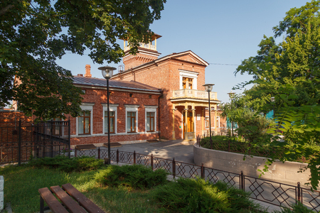 TAGANROG, RUSSIA - July 21, 2016: The house in which the composer Tchaikovsky stopped. Taganrog, Russia