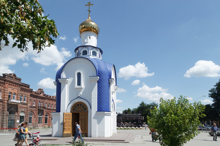 TAGANROG, RUSSIA - June 24, 2016: The chapel for the sake of the Kazan icon of the Mother of God, is established in the city of Taganrog, Russia