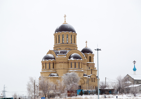 VOLGOGRAD, RUSSIA - December 15, 2016: The Christian temple of Saint Johns Church in the city of Volgograd, Russia